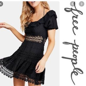 NWT 💕 Free People Lace Black Dress